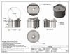 Stainless angled round collar mount spec drawings
