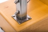 Lag screws used to deck mount stainless square post flange