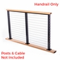 Post-To-Post Inline Handrail / Support Rail for Wood Top Rail