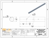 Stainless steel round cable railing post drawing and specifications