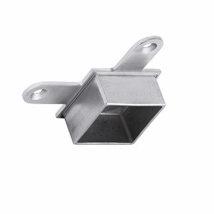 Low post cap for stainless steel square cable railing corner