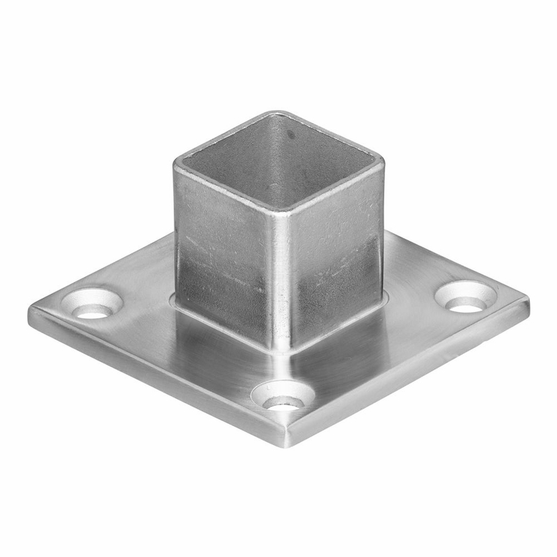 ... Floor Flange For Deck Mounting Stainless Square Cable Railing Posts ...