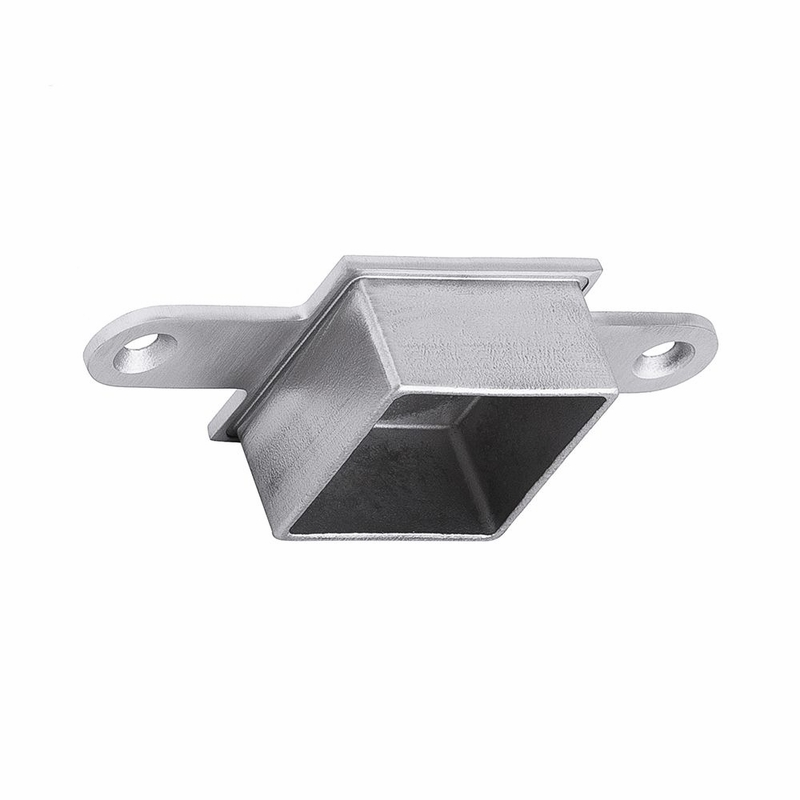Stainless steel square post to flat top rail connector