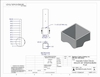 Stainless steel square cable railing post drawing and specifications
