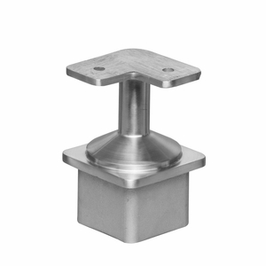 Stainless Square Corner Flat Post Cap