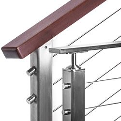 Stainless Square Top Rail Components