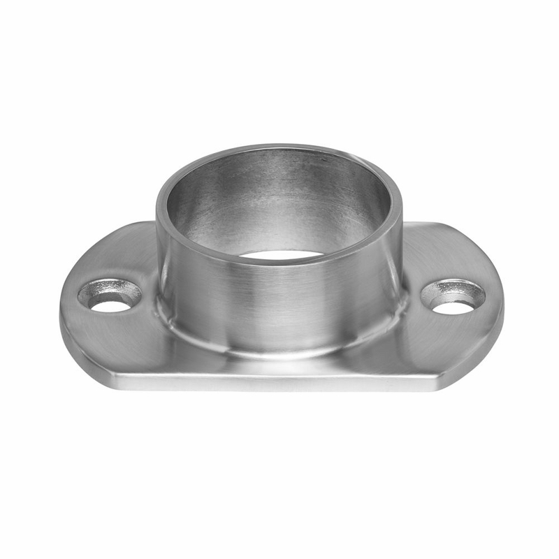 Floor wall flange for quot round stainless post top rail