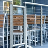 stainless steel cable railing system with gate