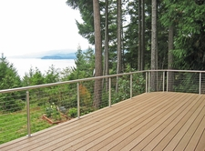 Stainless Steel Round Cable Railing - Qulcene, WA
