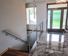 Stainless Steel Round Cable Railing - Shoreview, MN