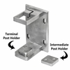 Fascia bracket options for stainless square cable railing posts