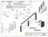 drawing detailing the installation and dimensions of P2P Stair Rail