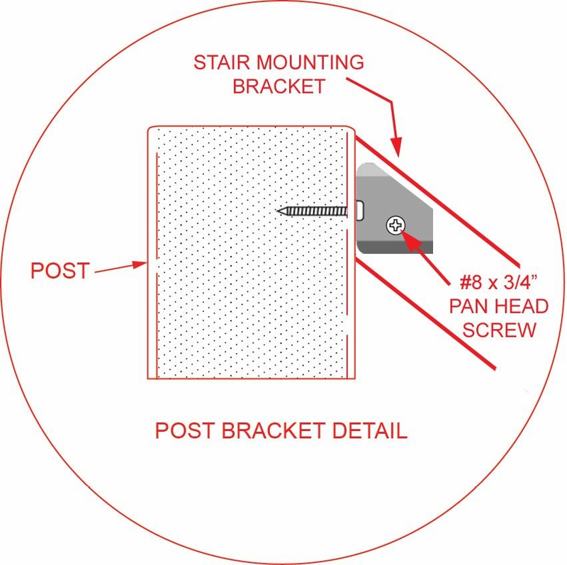 Post To Post Angled Handrail Cable Railing ...