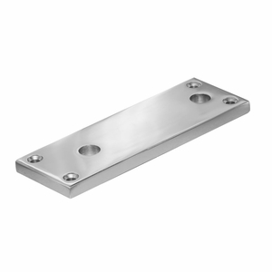 Standoff plate for aluminum or square stainless steel posts