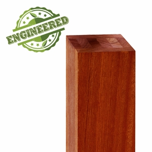 Balau Mahogany engineered wood post for cable railing