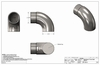 round stainless handrail wall return cable railing