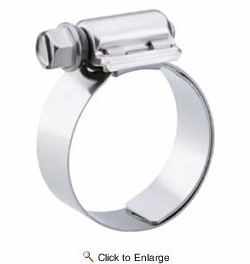 """10 Pack Breeze 9208  Aero-Seal Liner Clamps with Plated Screw Effective Diameter Range: 1/2"""" - 29/32"""" (13mm - 23mm)"""