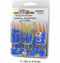 12 Pack Pico 0042PT  46 Piece 16-14 AWG Butt Connector and Assorted Terminal Kit