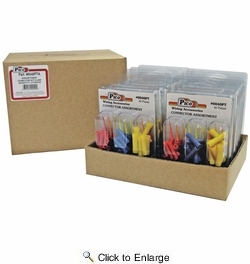 12 Pack Pico 0045PT  28 Piece Male & Female Assorted Quick Connects Kit (22-16, 16-14 & 12-10 AWG)