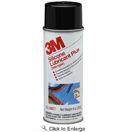 3M 08877  Silicone Lubricant Plus Spray (Wet Type)  9-oz Net Wt in 16-oz Aerosol Cans