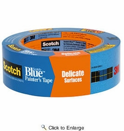 "3M 2080-1.5A  1-1/2"" x 60-yd Scotch-Blue Safe-Release Painters Tape for Delicate Surfaces"