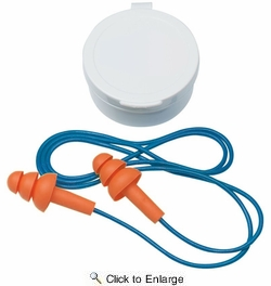3M 90586  TEKK Protection Tri-Flange Reusable Corded Earplugs with Carry Case NRR 25 dB