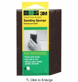 """3M CP040NA  5"""" x 3"""" Detail Area Angled Sanding Sponges Fine Grit"""