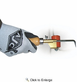 """AJC Tools 170-P&R  1-3/4"""" Pick & Roll Roofing Seam Roller with Wood Handle"""