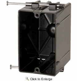 Allied Moulded P-201  Flexbox Single Gang Angled Nail Switch - Outlet Box