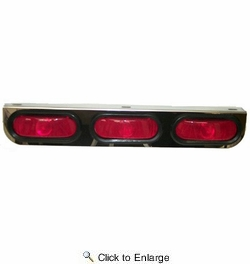 American Chrome 21463  Stainless Steel Light Bracket with Three Oval Red Lignts