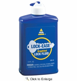 American Grease Stick LE-4  Lock-Ease Graphite Lock Lubricating Fluid 3.4 oz bottle
