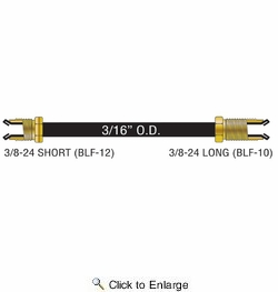 """American Grease Stick PA-330  3/16"""" x 30"""" Poly-Armour PVF Coated Steel Brake Line for Domestic Vehicles - SAE Inverted Flare Brakeline"""