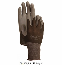 Atlas Glove 370BBK Atlas Nitrile Tough Gloves - Small