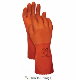 "Atlas Glove 620 Atlas Vinylove 12"" Double Dipped Gloves - Small"