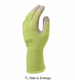 Atlas Glove NT370 Atlas Nitrile Garden Gloves - Small (Assorted Colors)