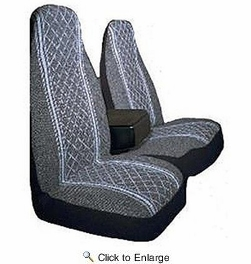 AutoLogix 67-1917GRY  Gray Diamond Back 60/40 Split Truck Seat Cover - 1 Set