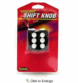 AutoLogix 8499  Black Dice Shift Knob