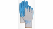 Bellingham C3000  Blue Rubber Palm Glove With Poly/Cotton Knit - Small
