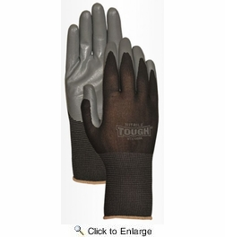 Bellingham NT3700BK  Nitrile Tough Palm With Nylon Knit Liner - Small