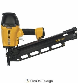 "Bostitch F21PL  1-1/2"" to 3-1/2"" 21° Plastic Collated Framing Nailer"