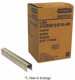 """Bostitch STCR5019-9/16-4  9/16"""" Staples for Stapling Tackers - 4000 Per Box"""