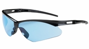 Bouton Safety Glasses 250-AN-10113  Anser - Light Blue Anti-Scratch Lens With Black Frames