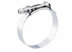 "Breeze TB325SS  Stainless Steel T-Bolt Clamp Effective Diameter Range: 3.25"" - 3.56"" (82.6mm - 90.5mm)"
