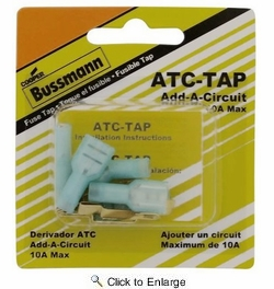Bussmann BP/ATC-TAP-RP  Add-A-Circuit Adapter Tap for ATC Blade Fuses - 5 per Package (10Amp Max)
