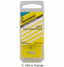 Bussmann BP/FT-3-RP  Automotive Blade and Glass Tube Fuse Puller and Tester