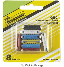 Bussmann BP/GBC-A8-RP  GBC Fast-Acting German/European Automotive Fuse 8 Fuse Assortment