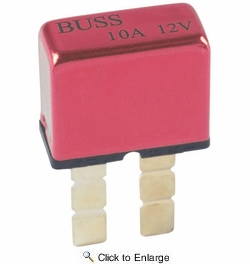 Bussmann BP/UCB-10-RP  Type I ATC Footprint 10 Amp Automatic Circuit Breaker with Snap-Off Blades
