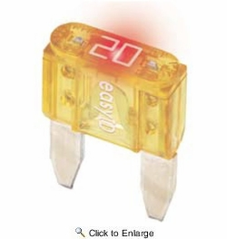 Bussmann VP/ATM-15ID  Blue ATM 15 Amp easyId Illuminating Fast-Acting Automotive Mini Blade Fuses - 10 per Package