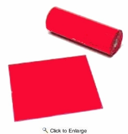 "C.H. Hanson 10495  16"" x 16"" Red Lumber Warning Flag - 300 per Roll"