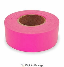 "C.H. Hanson 17003  150' x 1-3/16"" Flagging Tape - Fluorescent Pink"